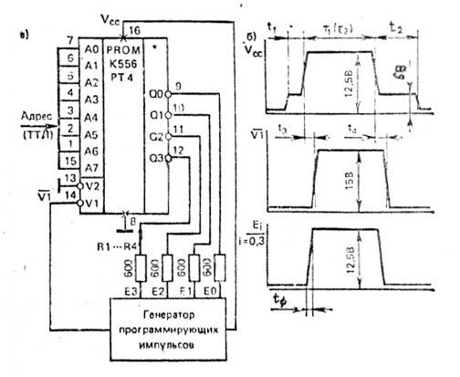 Схема подключения ПЗУ
