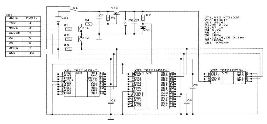 Схема адаптера диагностики k l line для контроллера январь 7 3 схемы приборы адаптеры оборудование нужна ваша помощь...