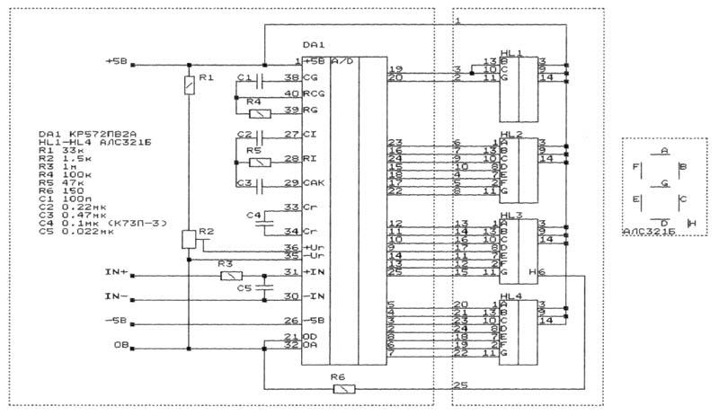Icl7107 схема вольтметр